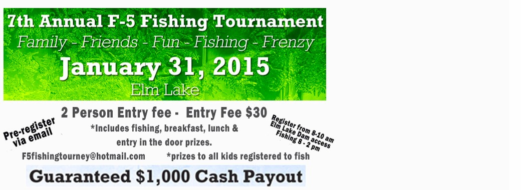 F5 Ice Fishing Tournament Elm Lake Frederick, SD
