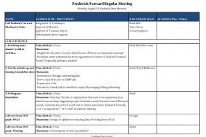 Frederick Forward meeting at 7 tonight (Aug. 19)