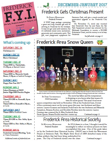 Frederick FYI News Dec 2016-Jan 2017