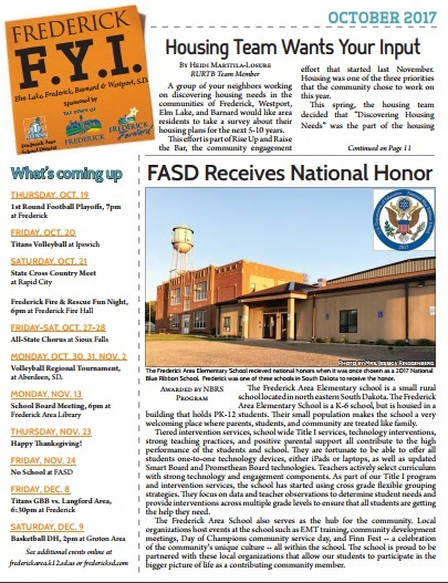 Frederick FYI News Oct 2017