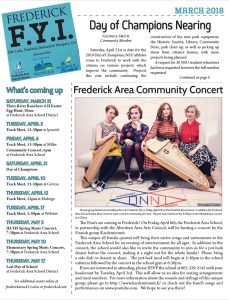 Check out the Frederick FYI Newsletter March 2018