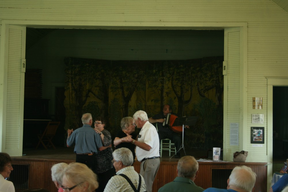 """Couples dance at Savo Hall to the accordion music of Larry """"Lauri"""" Saukko at Savo Hall during Finn Fest in Frederick, S.D., June 16, 2013."""