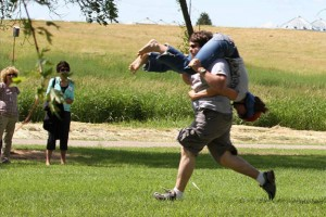 wife carrying contest at Finn Fest 2012