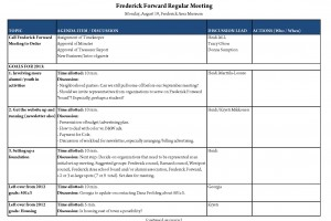 Frederick Forward meeting at 7 tonight (Aug. 19)