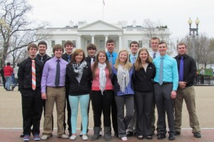 The Frederick Area Class of 2014, at the White House. Photo courtesy Cole Hinz.