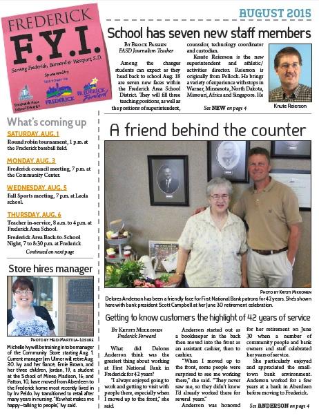 Frederick FYI Newsletter Aug. 2015