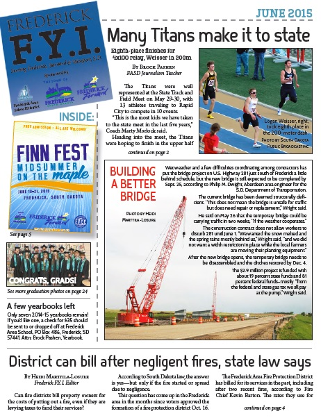 Frederick FYI Newsletter June 2015 Cover