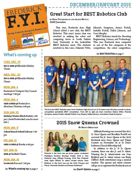 Frederick FYI Newsletter Dec. 2015 - Jan. 2016