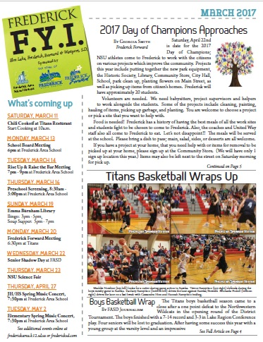 Frederick FYI News March 2017