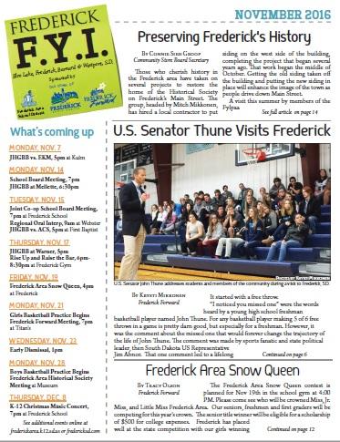 Frederick FYI News November 2016
