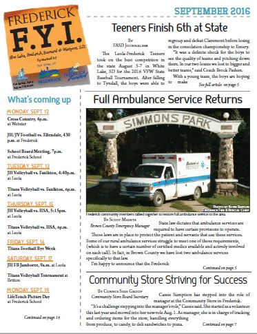 Frederick FYI News September 2016