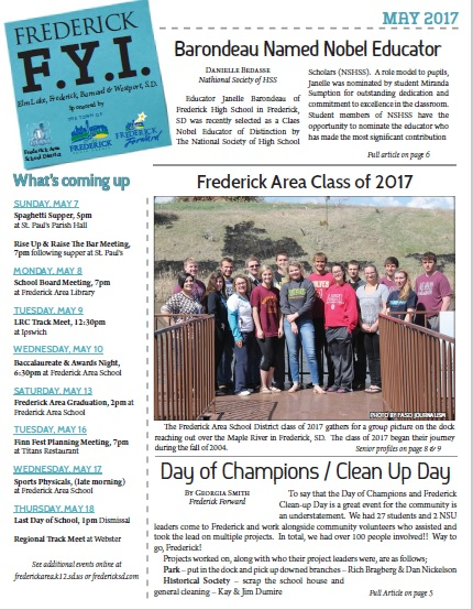 Frederick FYI Newsletter May 2017
