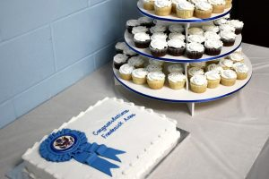 No Blue Ribbon School celebration is complete with cake.
