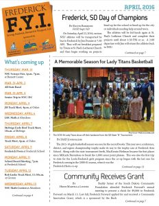 Frederick FYI News April 2016 cover