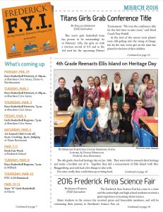 Frederick FYI News March 2016